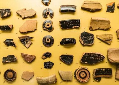 Pessoi y ostraka griegos